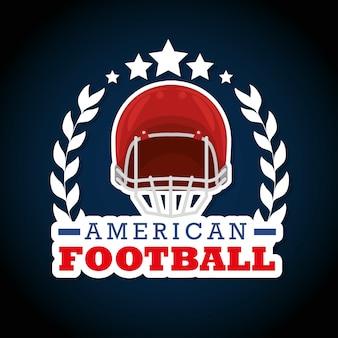 Amerikaans voetbal sport logo
