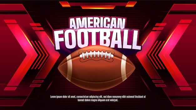 Amerikaans voetbalkampioenschap sjabloon