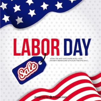 Amerikaanse achtergrond van de arbeidsdag verkoop