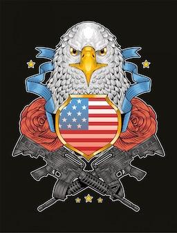 Amerikaanse adelaar veteranen dag onafhankelijkheidsdag