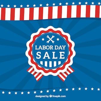 Amerikaanse arbeidsdag badge verkoop retro achtergrond