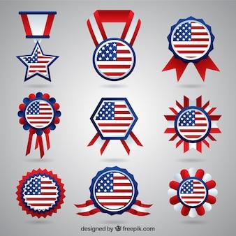 Amerikaanse badges pak