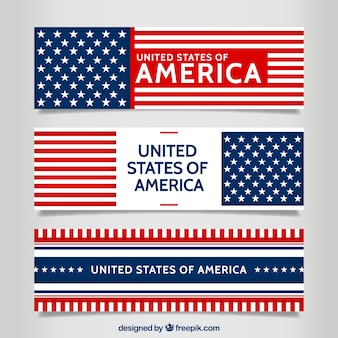 Amerikaanse banners pakken