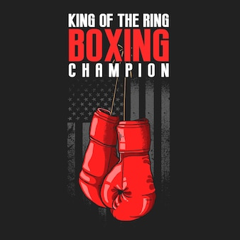 Amerikaanse bokshandschoenen sport illustratie