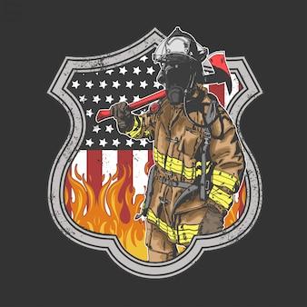 Amerikaanse brandweerman