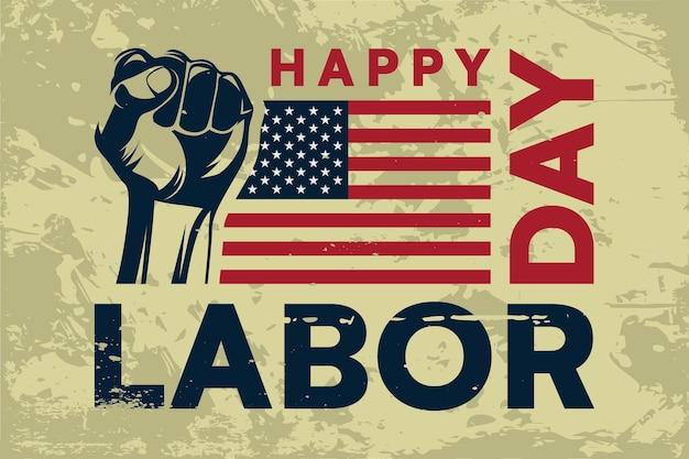 Amerikaanse dag van de arbeid grunge stijl achtergrond