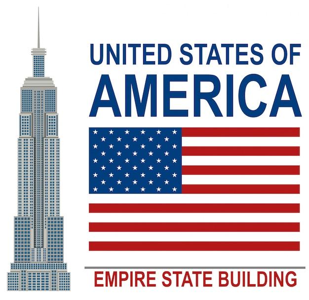 Amerikaanse empire state building-illustratie