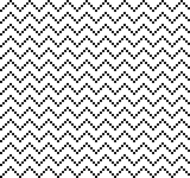 Amerikaanse etnische naadloze bergen en zigzag met vierkanten lijnenpatroon herhaalde krommen
