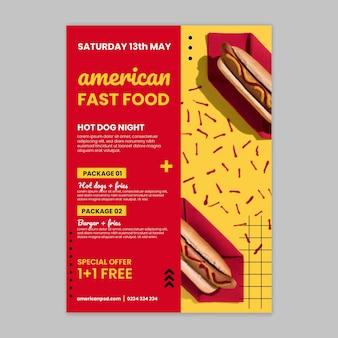 Amerikaanse fastfood poster sjabloon