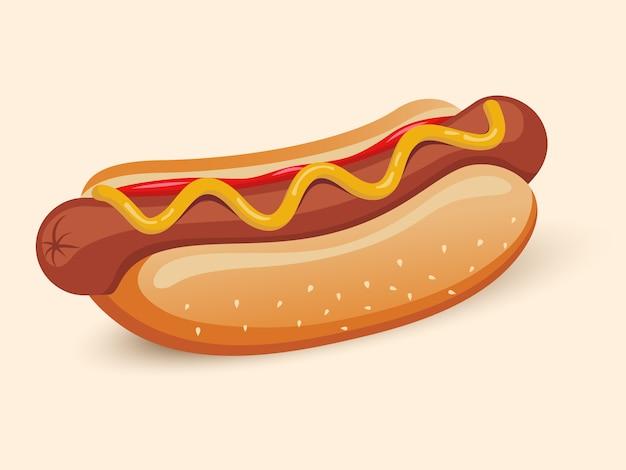 Amerikaanse hotdog sandwich