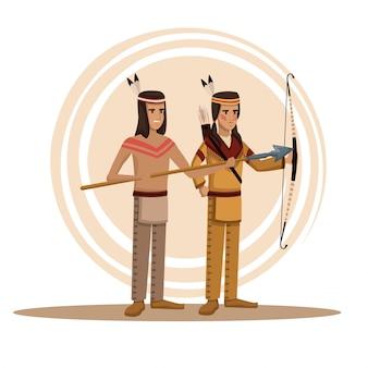 Amerikaanse indianen cartoon