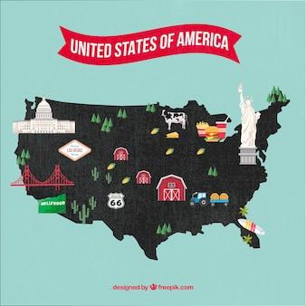 Amerikaanse kaart
