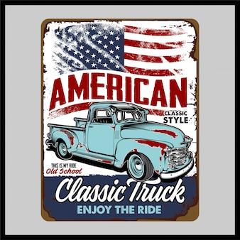 Amerikaanse klassieke vrachtwagen