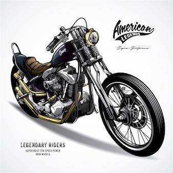 Amerikaanse legende motorfiets