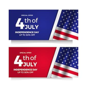 Amerikaanse onafhankelijkheidsdag flyer verkoopaanbieding