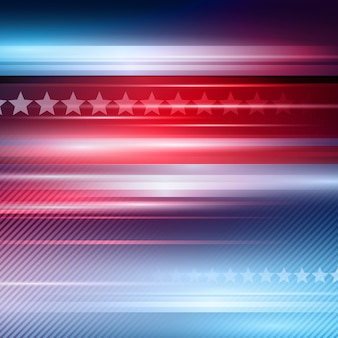 Amerikaanse onafhankelijkheidsdag. gestreepte rode en blauwe achtergrond