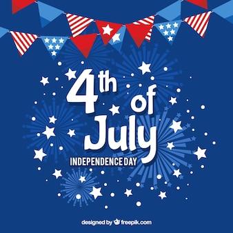 Amerikaanse onafhankelijkheidsdag met vlaggen en sterren