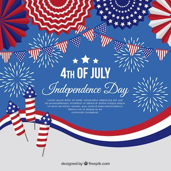 Amerikaanse onafhankelijkheidsdag met vuurwerk