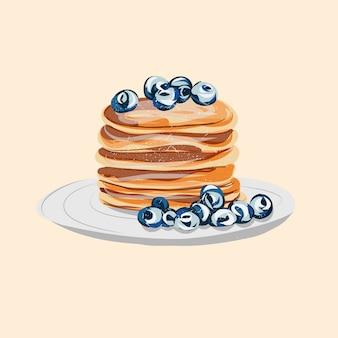 Amerikaanse pannenkoek met bessen