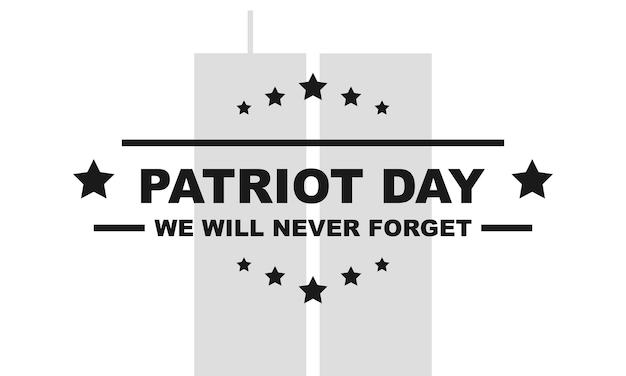 Amerikaanse patriotdag. memorial day 11 september. vectorillustratie eps 10