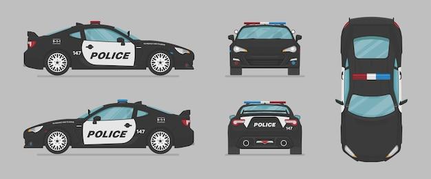 Amerikaanse politiewagen van verschillende kanten