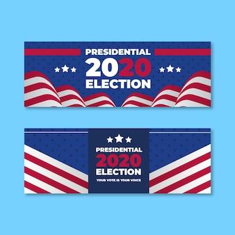 Amerikaanse presidentsverkiezingen 2020 - banners