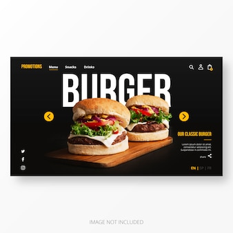 Amerikaanse restaurant landing page template