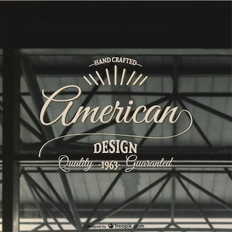 Amerikaanse retro vector stempel