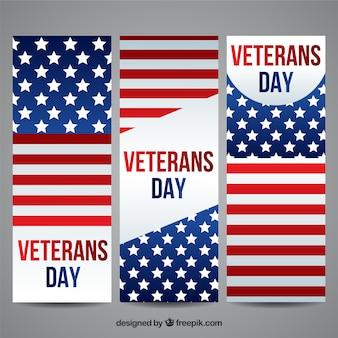 Amerikaanse veteranen dag banners