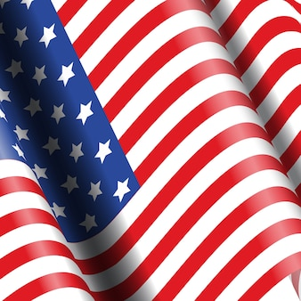 Amerikaanse vlag achtergrond ideaal voor 4 juli feesten