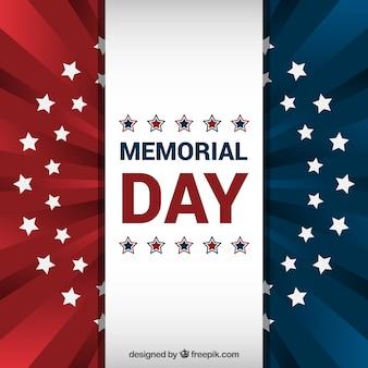 Amerikaanse vlag achtergrond voor herdenkingsdag