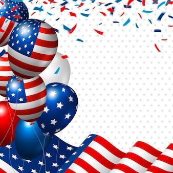 Amerikaanse vlag en ballon