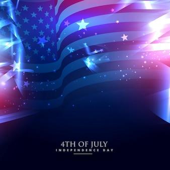 Amerikaanse vlag in de achtergrond
