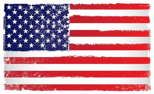 Amerikaanse vlag in grungestijl