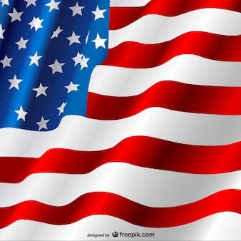 Amerikaanse vlag vector gratis