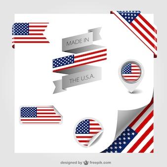 Amerikaanse vlag vector labels