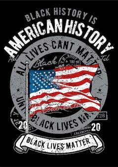 Amerikaanse vlag, vintage illustratie poster.