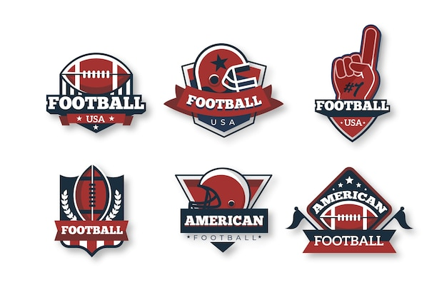 Amerikaanse voetbal badges retro-stijl