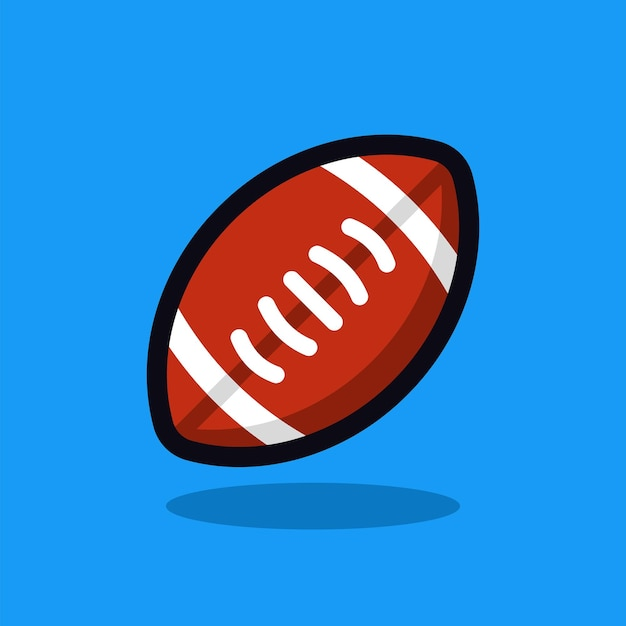 Amerikaanse voetbal cartoon vectorillustratie