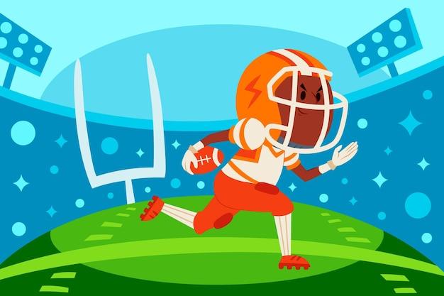 Amerikaanse voetbal illustratie