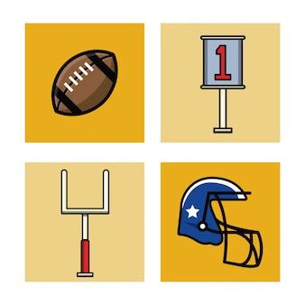 Amerikaanse voetbal pictogrammen