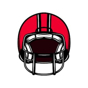 Amerikaanse voetbal sport helm geïsoleerd op een witte achtergrond