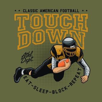 Amerikaanse voetbal touchdown