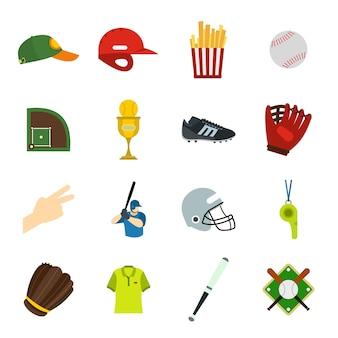 Amerikaanse voetbal vlakke elementen voor web en mobiele apparaten