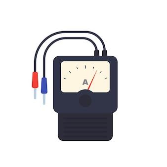 Ampèremeter geïsoleerd op wit, vector