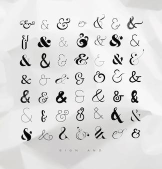 Ampersands instellen voor letters