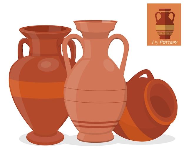 Amphora vaas set