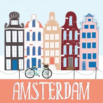 Amsterdam illustratie