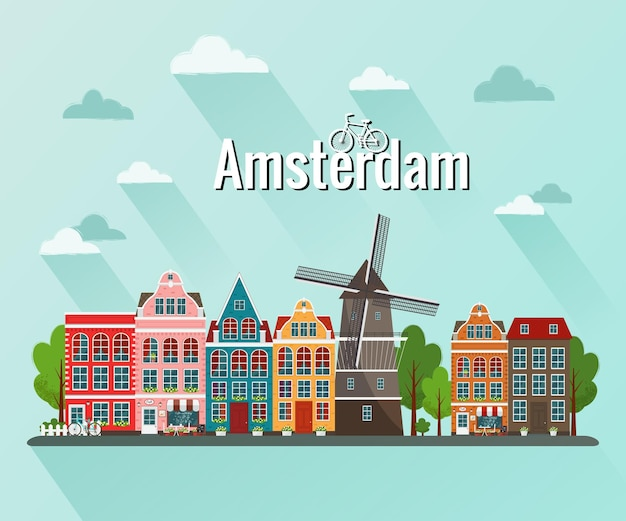 Amsterdam. oude europese stad.