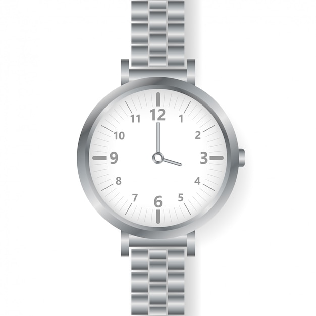 Analoog horloge herenpolshorloge op wit